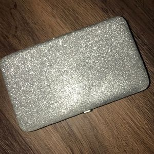 Silver Glitter Clutch